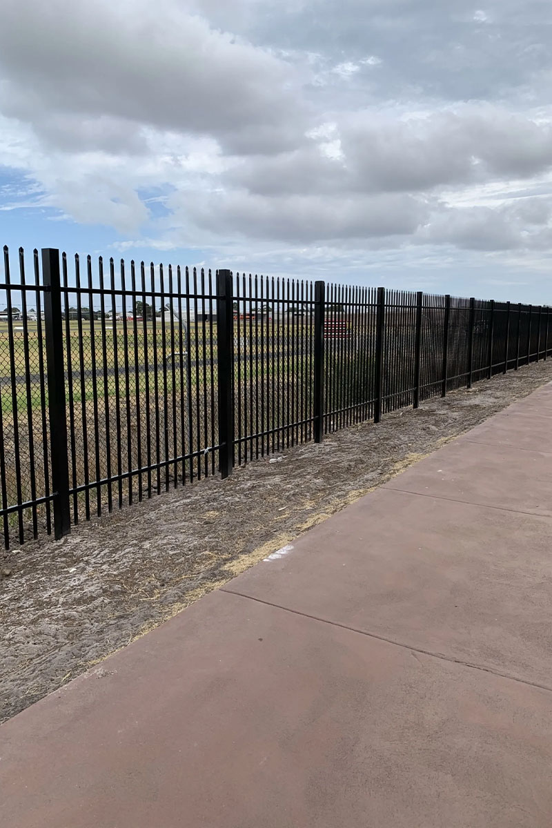 air port security fencing Melbourne