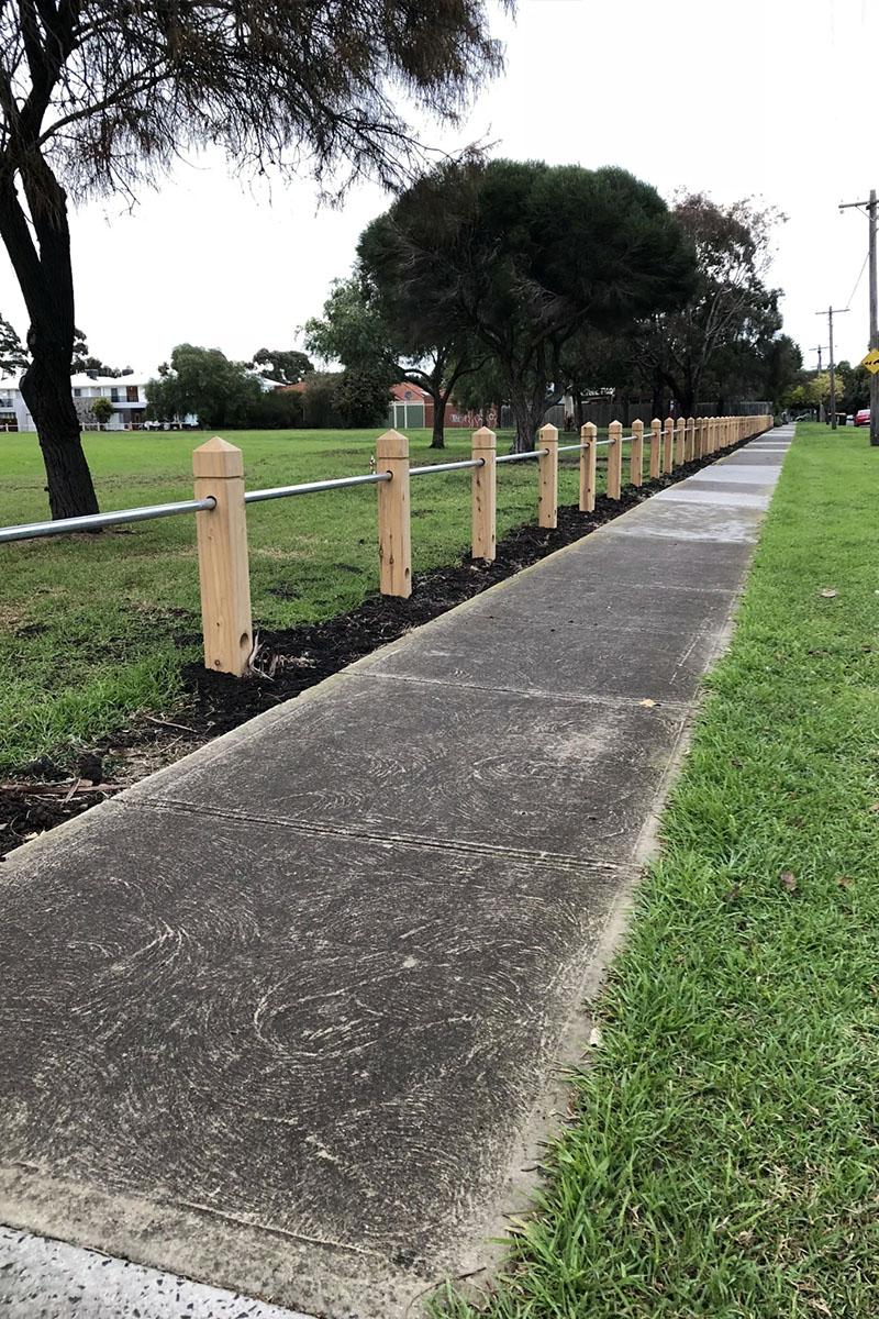 Post rail fencing Melbourne
