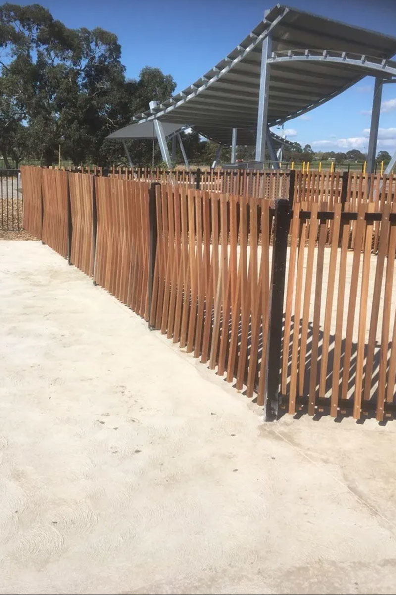 modwood playground fencing Melbourne after photo