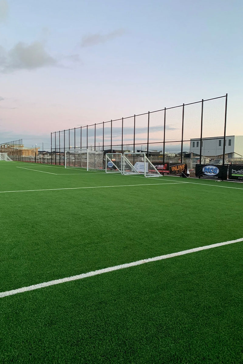 chain mesh sports fencing Melbourne soccer field