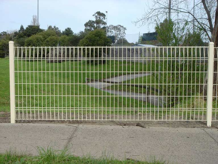 beige welded mesh fencing Melbourne