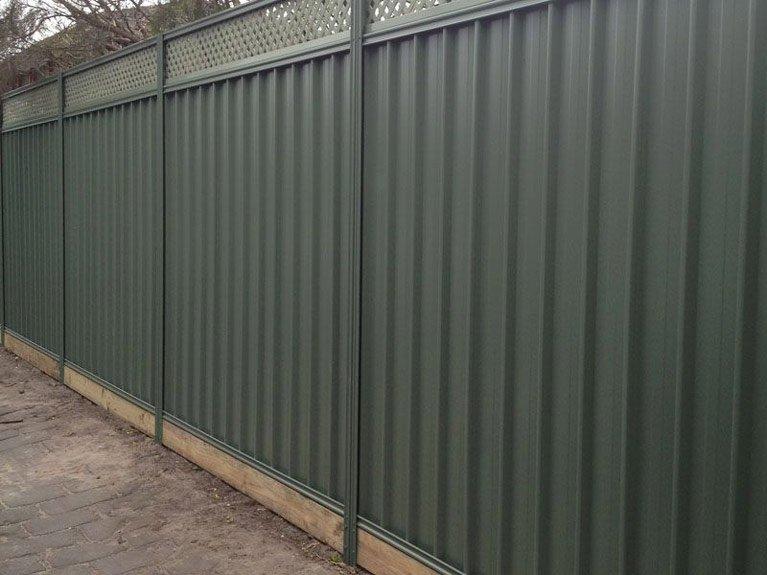 green colorbond fence Melbourne