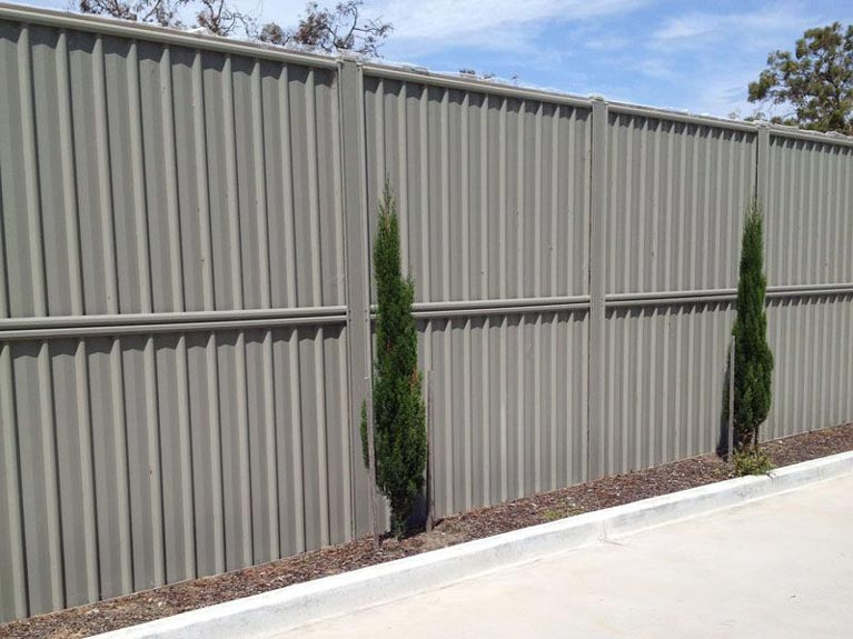 grey colorbond fence Melbourne