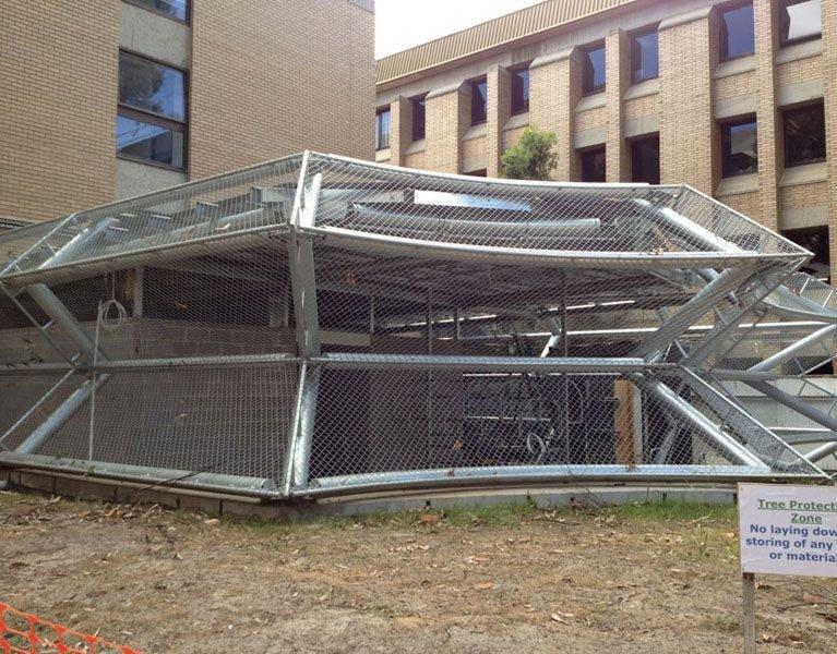 Latrobe university security fence Melbourne