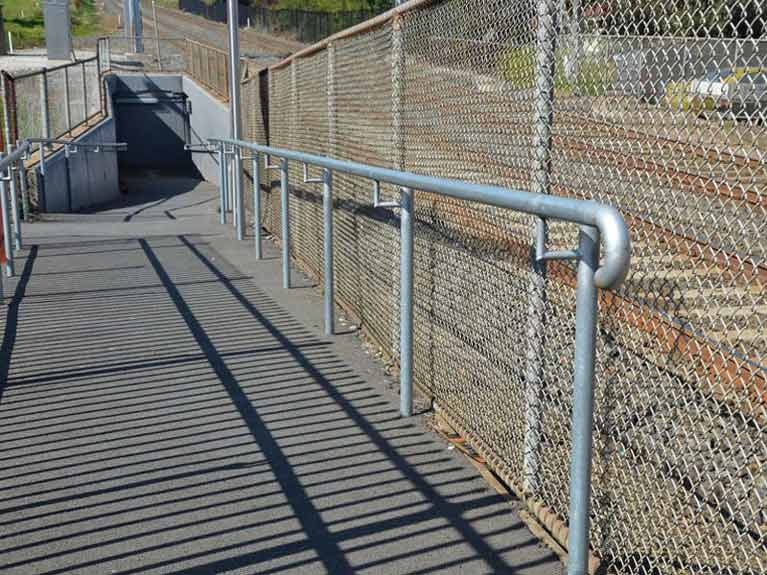 railway station safety barrier Melbourne