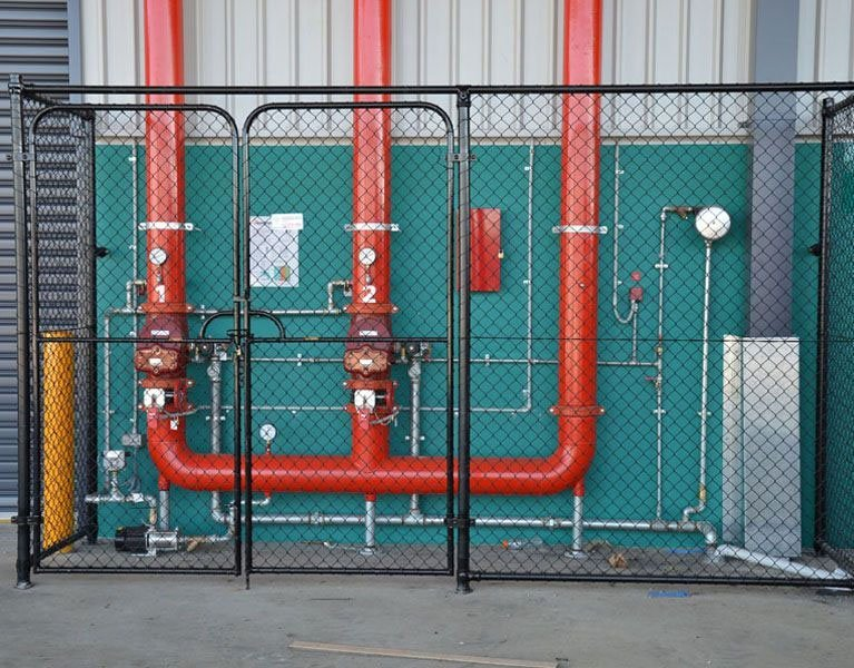 red pipe security fence Melbourne