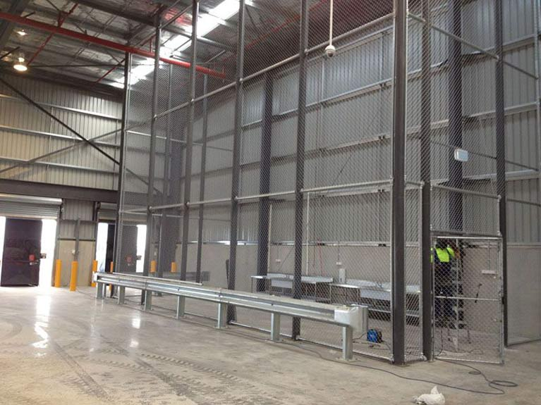 safety barrier Melbourne warehouse