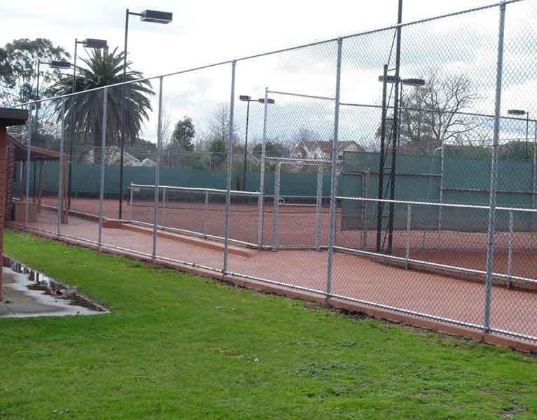 tennis court sport net fence Melbourne