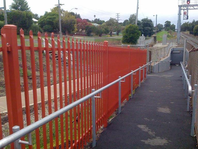 train station fence Melbourne