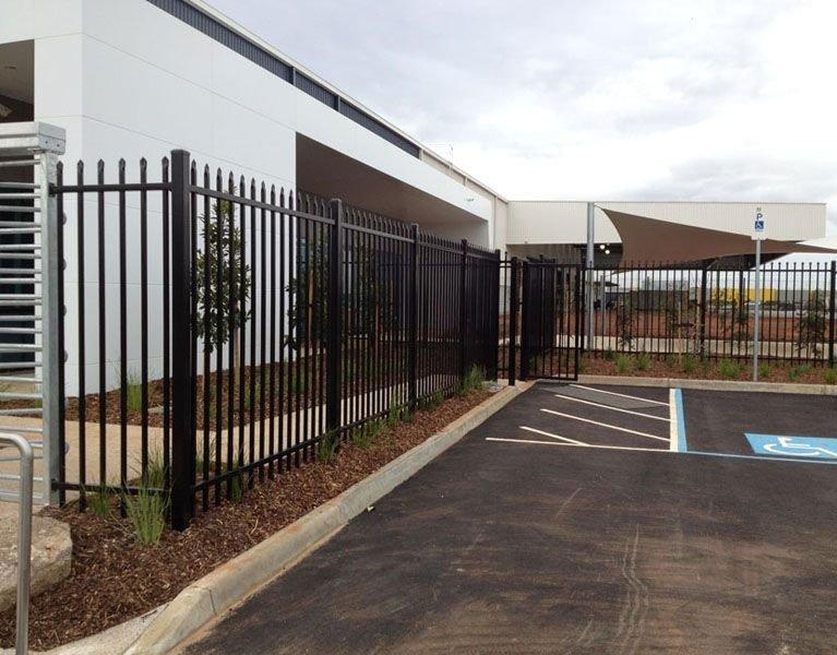 warehouse carpark security fence Melbourne