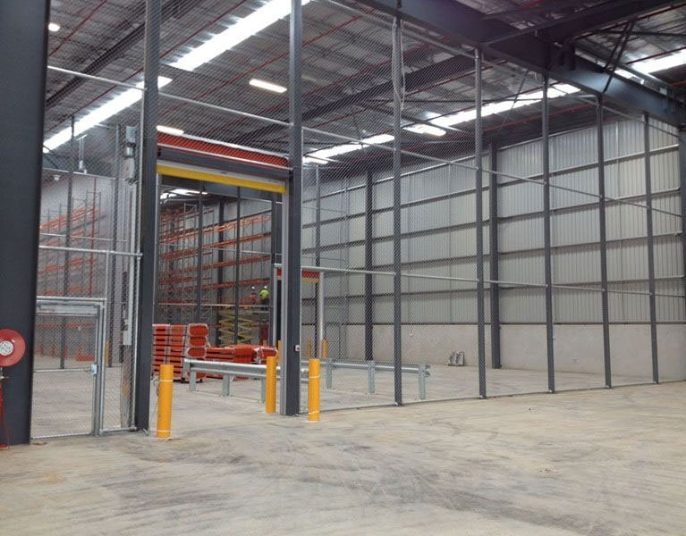 warehouse wire fence Melbourne