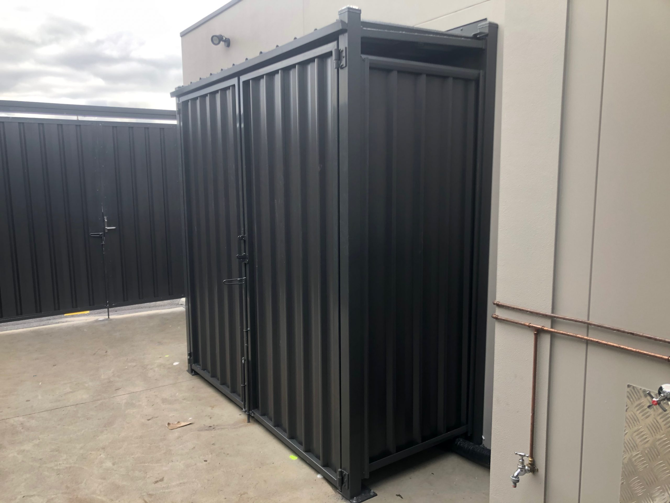 melbourne protective cage colorbond steel epping