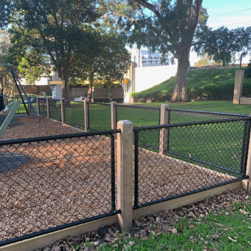 Playground Fencing In South Yarra From Another Angle