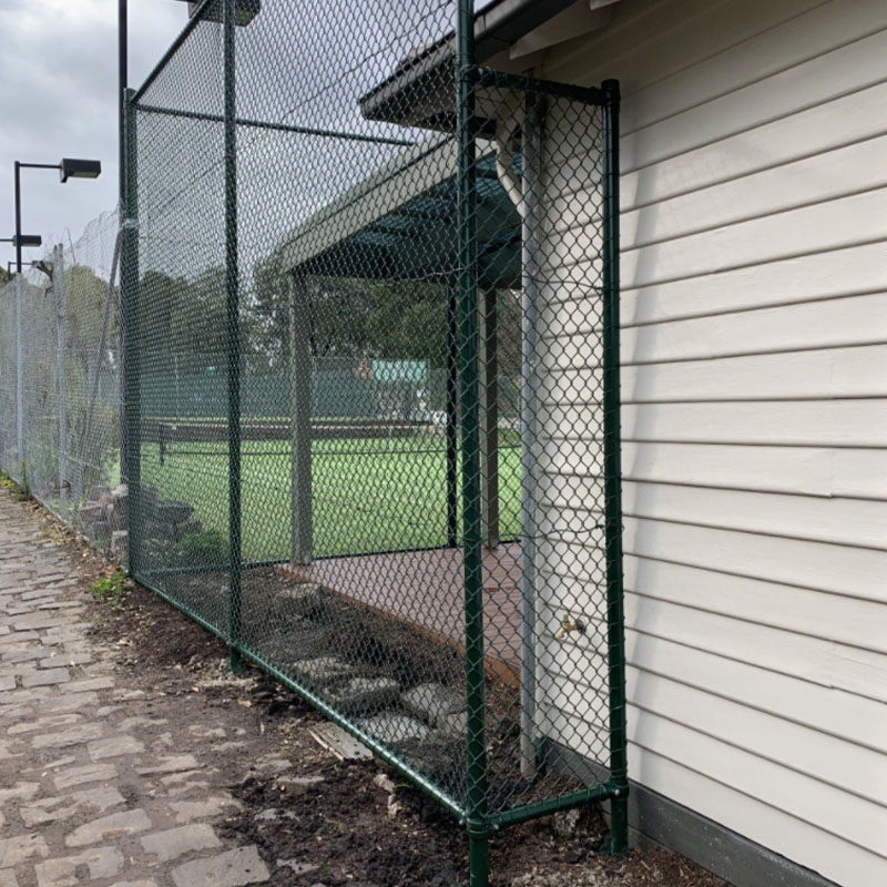 Protective Chain Wire Fencing At a Tennis Club In Coburg, Melbourne
