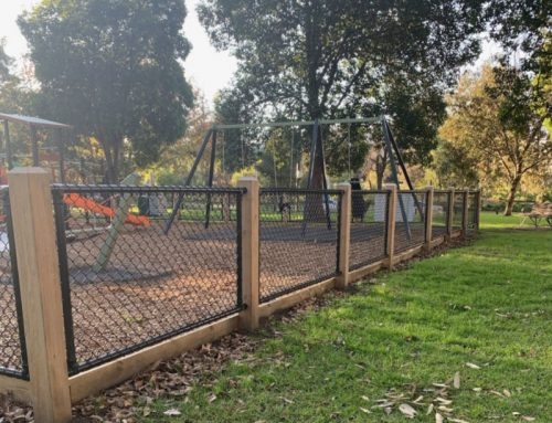 Playground chain link fencing in South Yarra