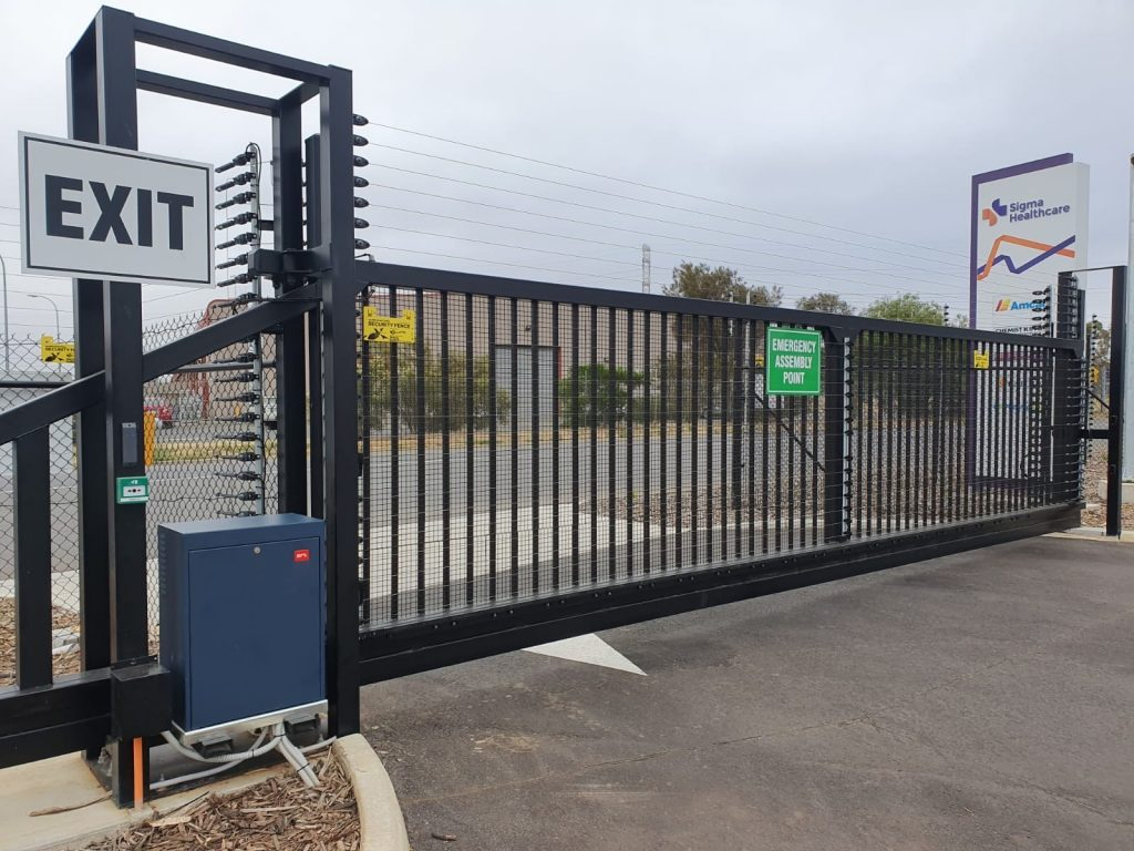 Industrial steel gates in Melbourne