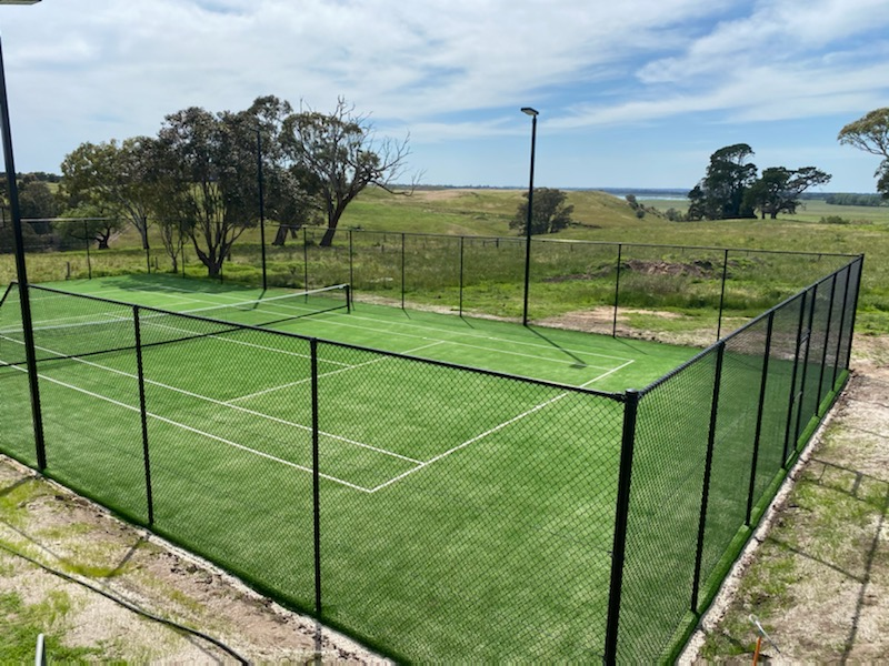 tennis court fencing victoria