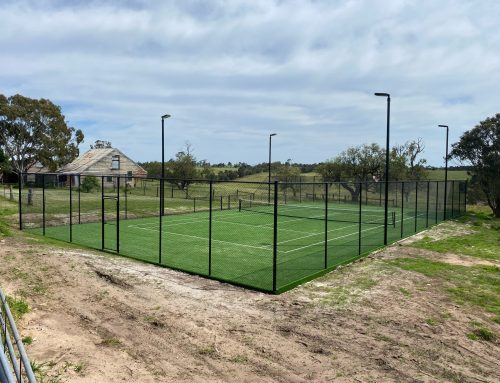 Tennis Court Fencing – Stratford, Country Victoria