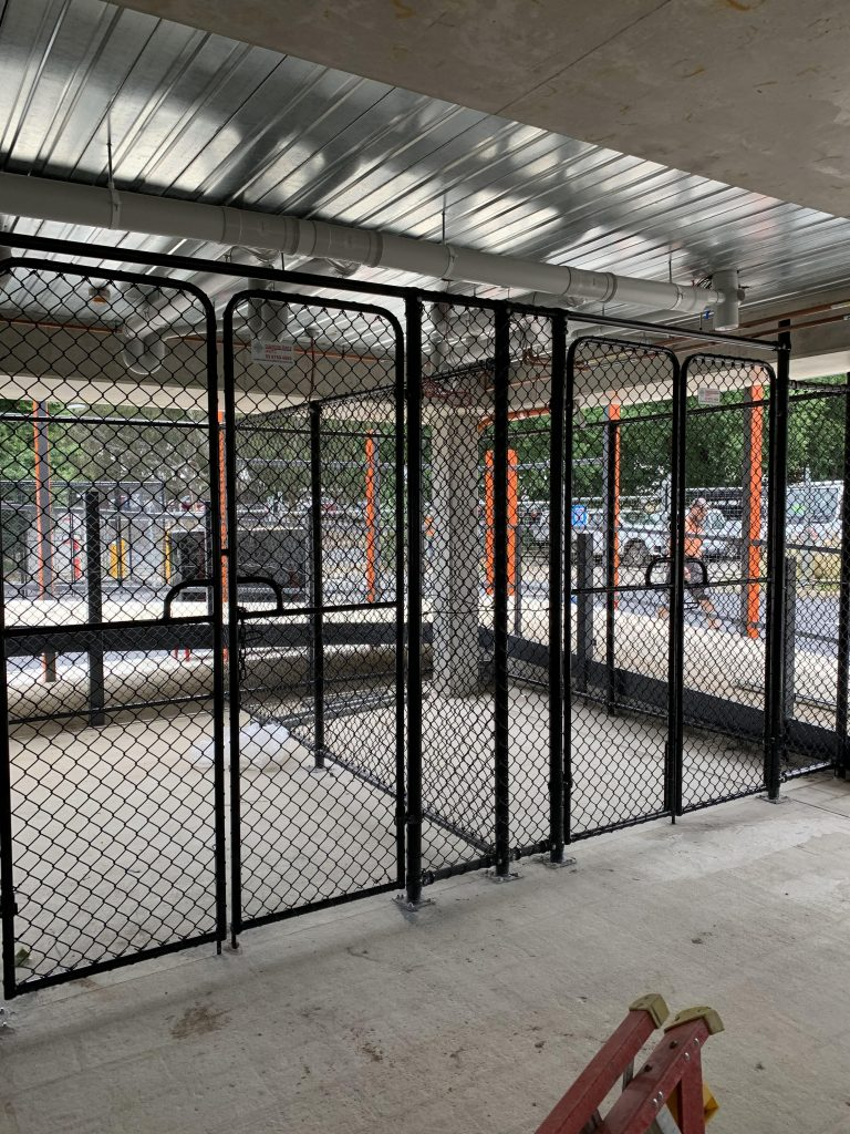 Chain link security enclosures