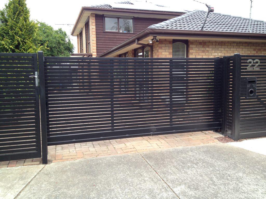 elegant black gate