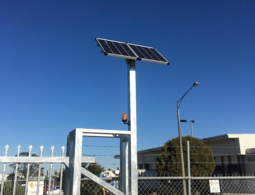 Solar-Powered Electric Gates