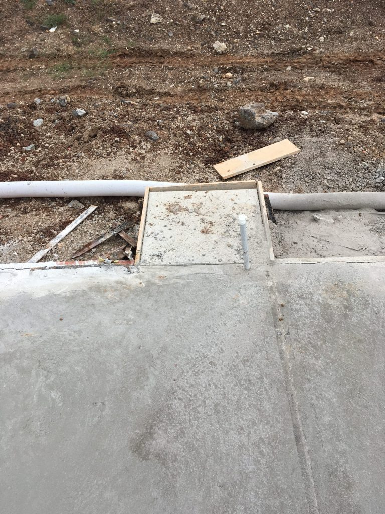 fence installation concrete pds