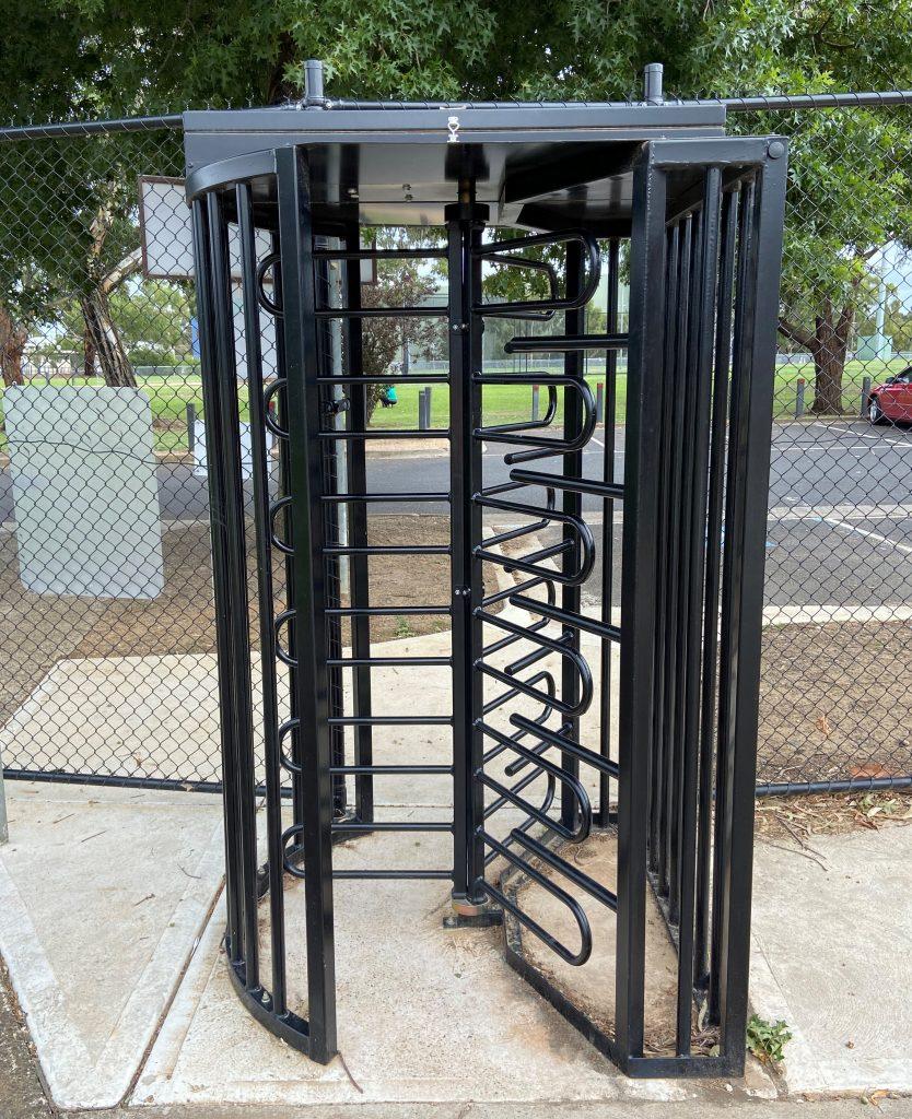 black steel turnstile
